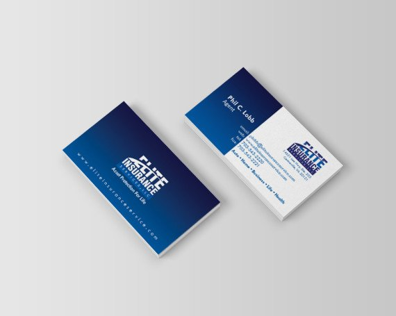 Elite Insurance Business Cards